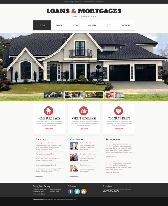 Light loans mortgages wordpress themes