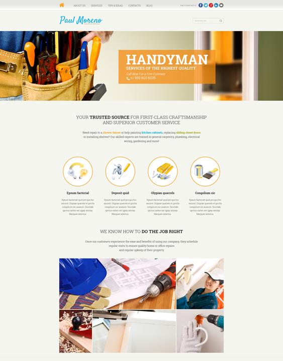 Proper Handyman Services Joomla Template