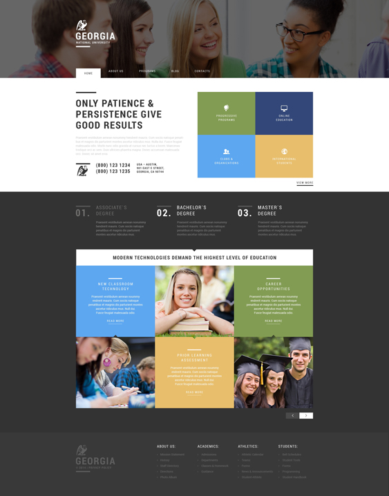 university college wordpress themes