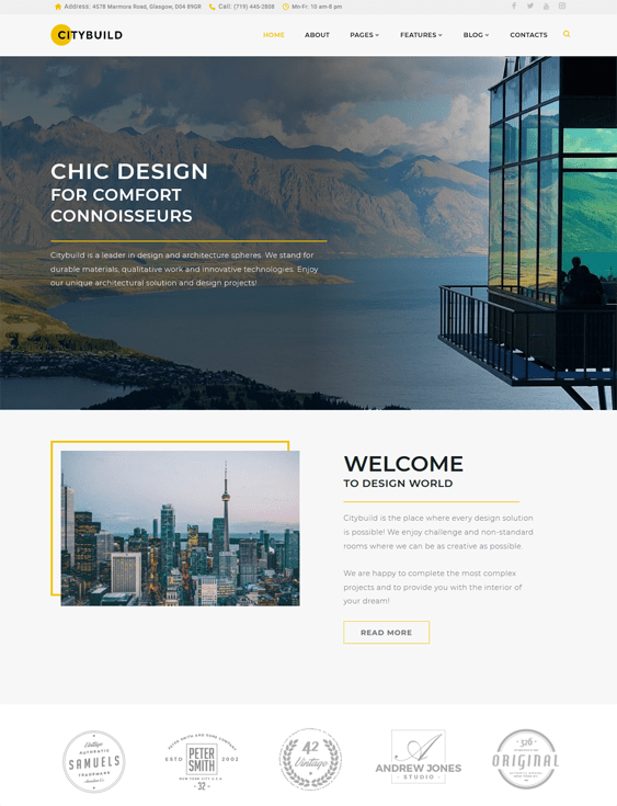 citybuild construction wordpress themes
