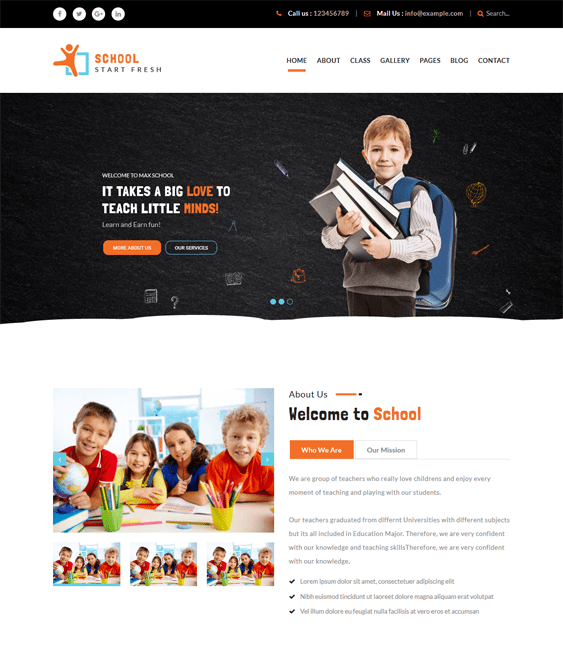dizi education wordpress themes schools