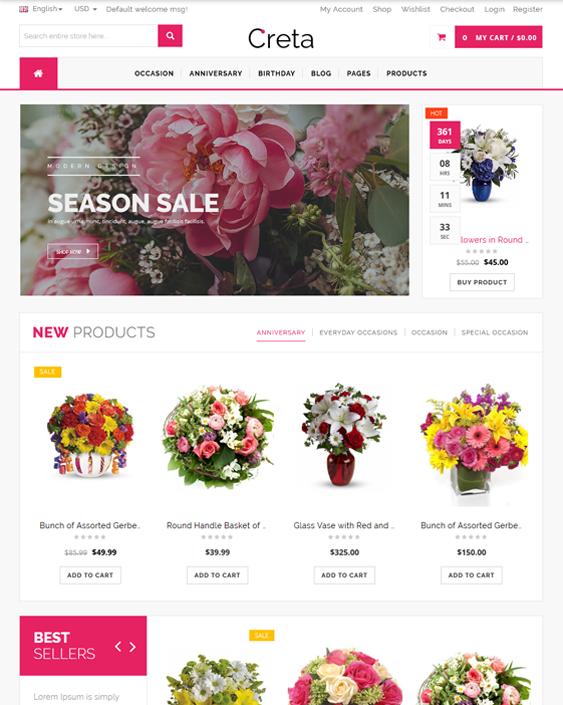flora florist wordpress themes flower shops