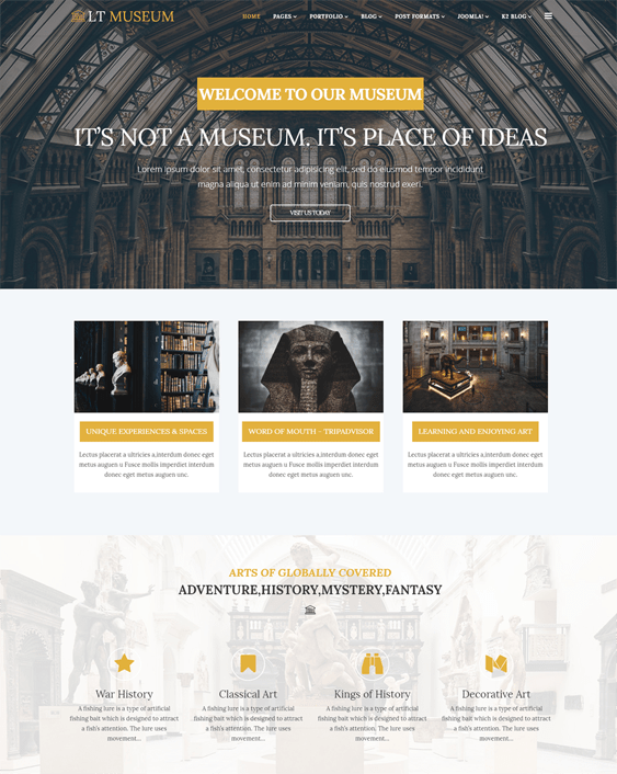 lt museum wordpress themes