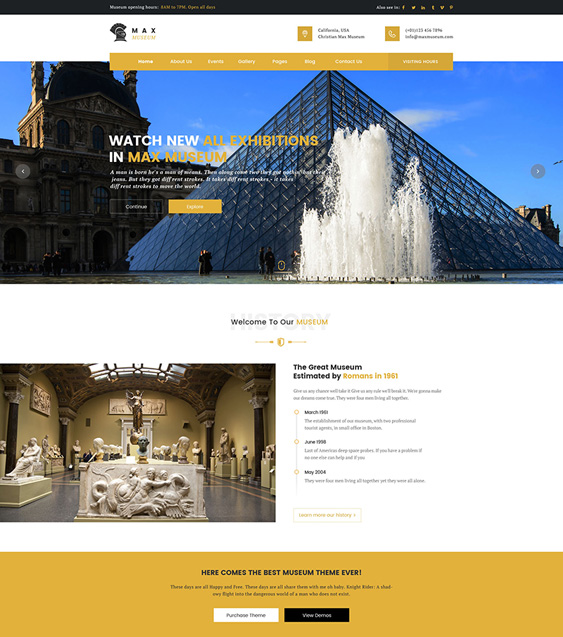 max museum wordpress themes