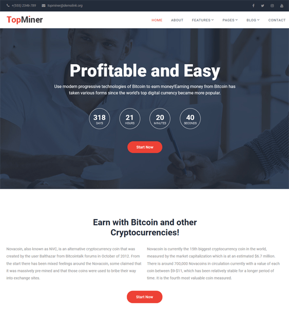 bitcoin cryptocurrency joomla templates wordpress themes