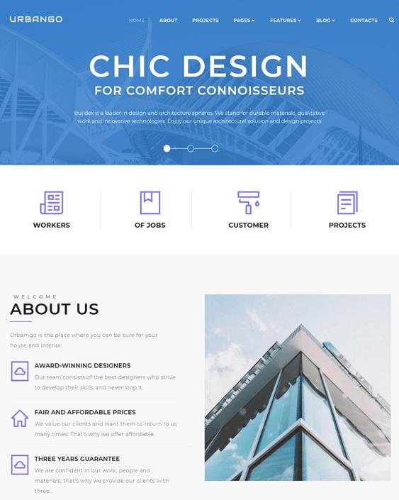 wordpress themes architects architecture