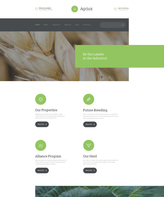 12 of the Best Farm & Agriculture Bootstrap Website Templates – <br ...