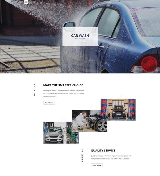 car wash bootstrap website templates