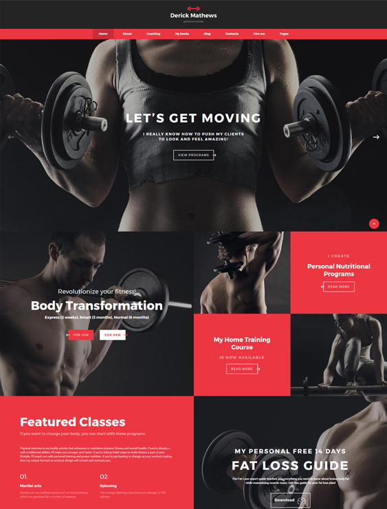 10 of the best gym fitness bootstrap website templates br down