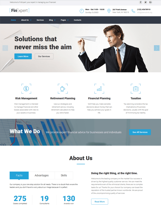 12 of the Best Finance Bootstrap Website Templates for Financial ...