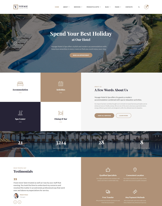 bootstrap hotel website templates