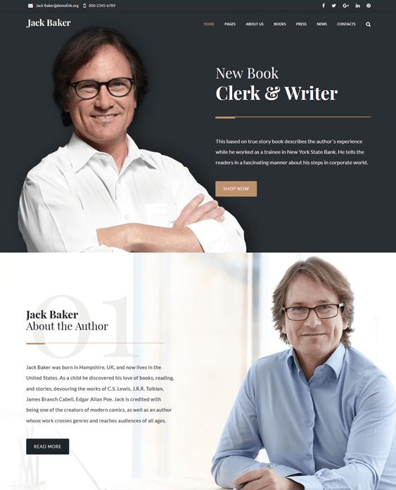 wordpress themes writers authors