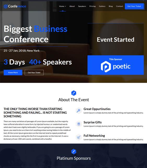 joomla templates events