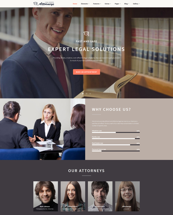 8 of the best bootstrap website templates for lawyers attorneys