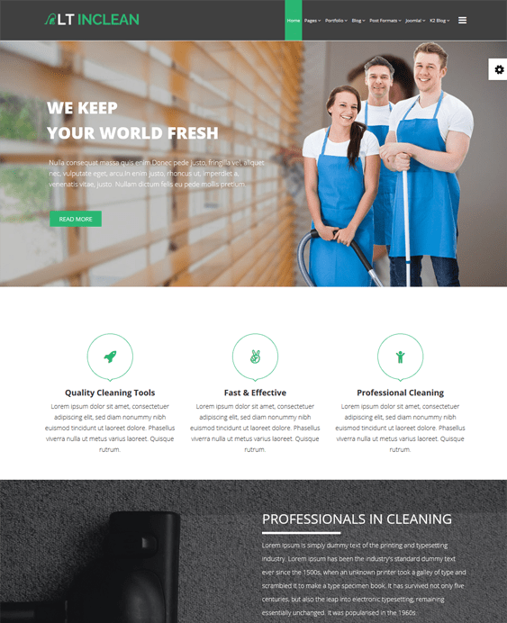 joomla templates maids cleaners cleaning companies