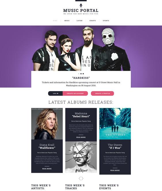bootstrap music website templates musicians singers bands dj