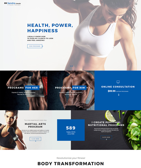 bootstrap website templates gym fitness