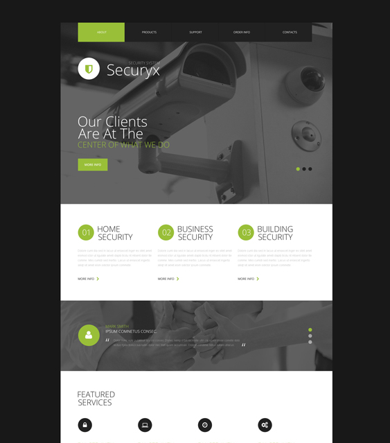 bootstrap website templates security firms consultants