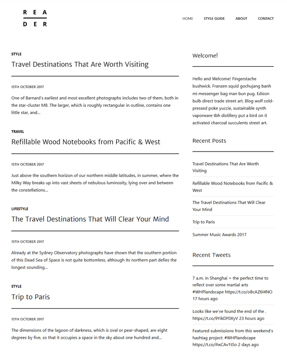 wordpress themes writers authors