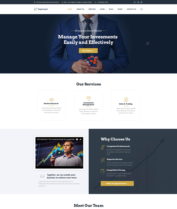 finance bootstrap website templates financial sites