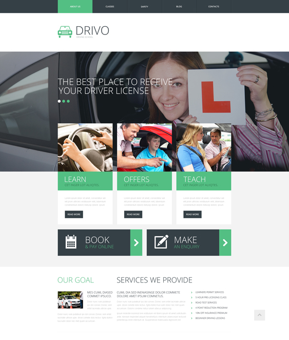 5 of the Best Bootstrap Website Templates for Driving Instructors ...