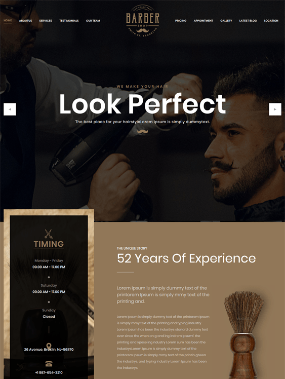 Bootstrap Website Templates Hair Salons Barbershops