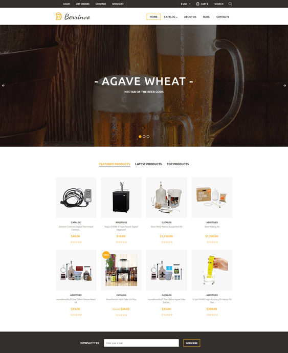 virtuemart templates online food drink stores