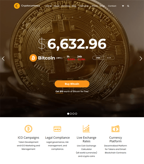 wordpress themes bitcoin cryptocurrency websites