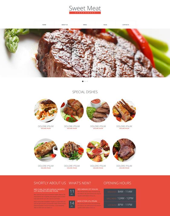 drupal restaurant templates
