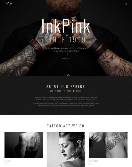 wordpress themes tattoo artists salons