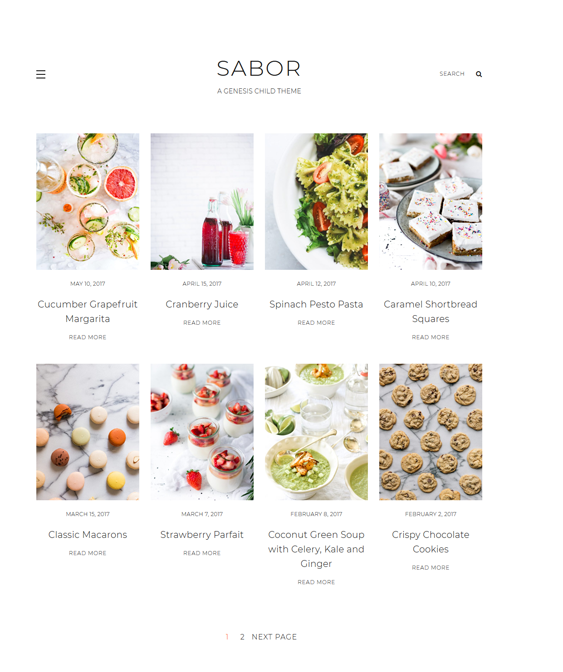 wordpress themes food blogs recipe websites
