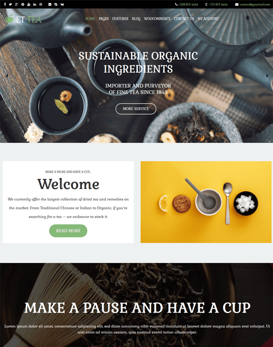 food drink wordpress themes