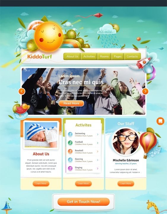 education wordpress themes daycare kindergarten elementary school websites