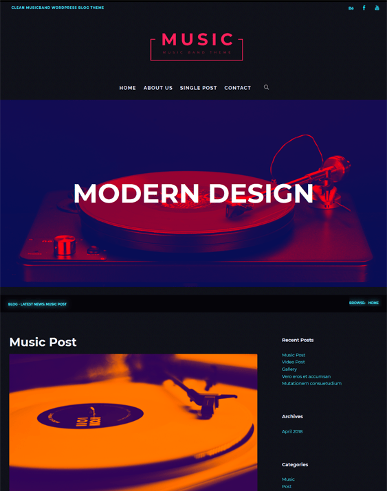 music wordpress themes bands singers