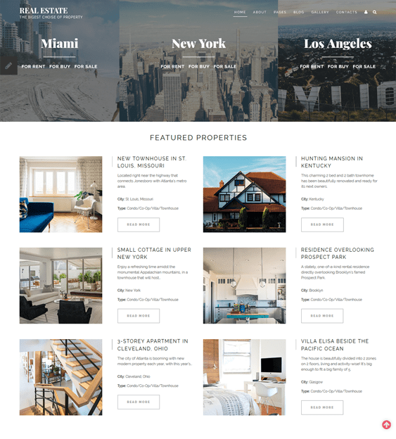 real estate joomla templates