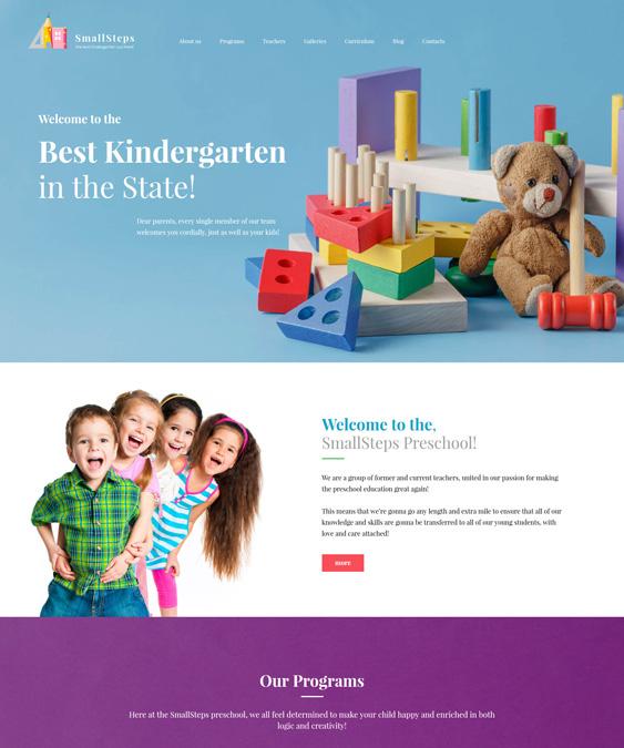 education wordpress themes daycare kindergarten elementary school websites