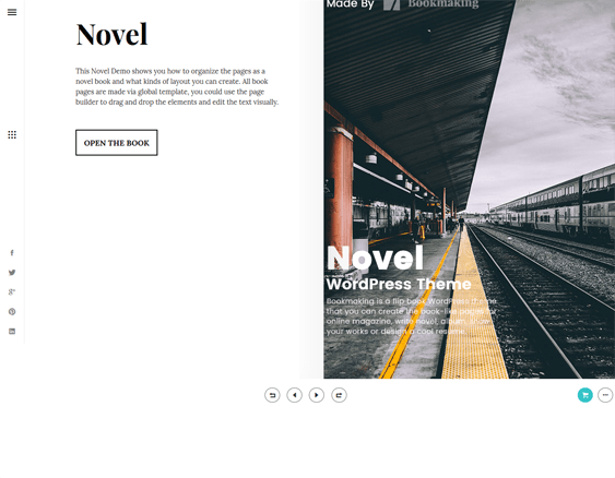 wordpress themes selling promoting books