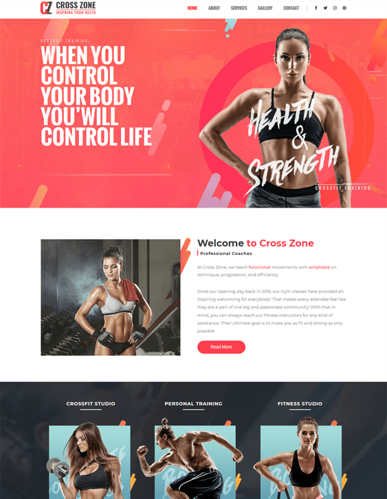 wordpress themes crossfit gyms studios