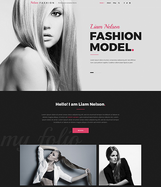 wordpress themes models modeling agency