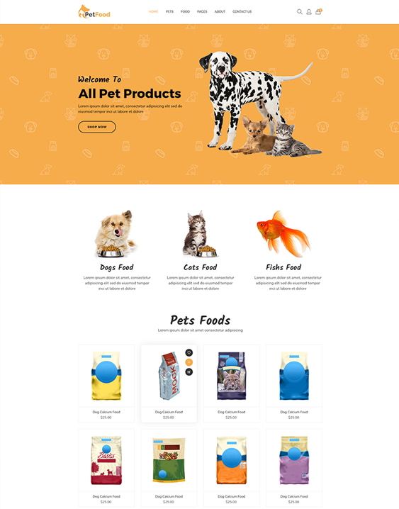 shopify themes pet supply stores