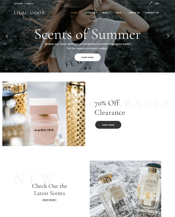 shopify themes cosmetics beauty products