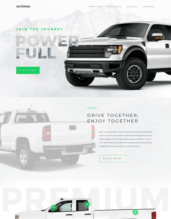 car vehicle automotive wordpress themes