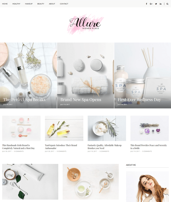 wordpress themes for beauty blogs