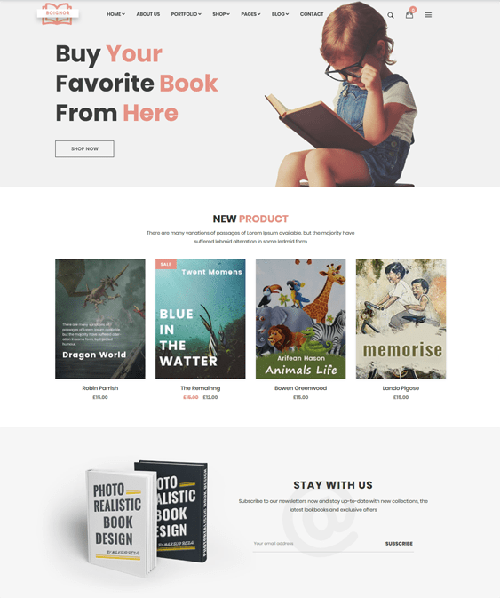 woocommerce themes selling books