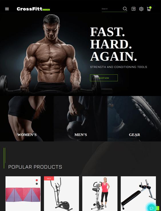 sports fitness prestashop themes