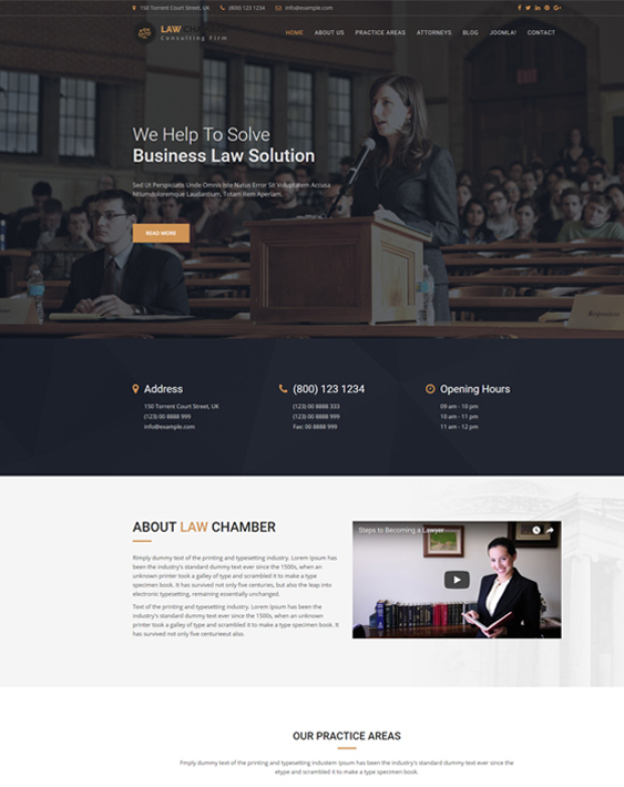 joomla templates lawyers law firms attorneys