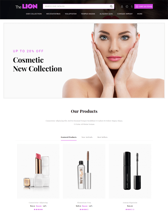 beauty products cosmetics makeup prestashop themes