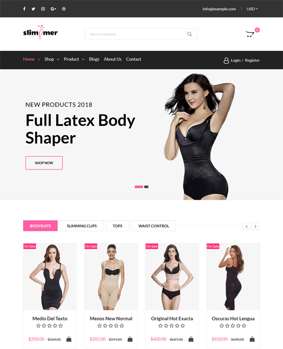 shopify themes lingerie swimwear shapewear underwear
