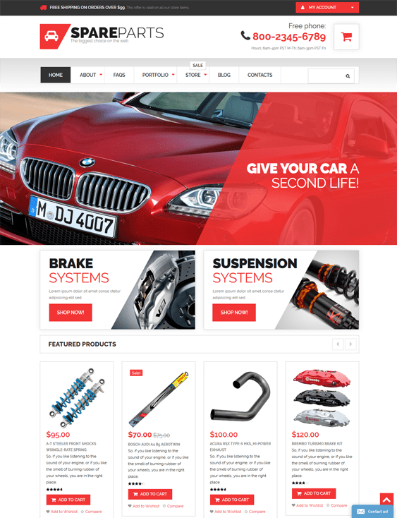 car vehicle automotive woocommerce themes