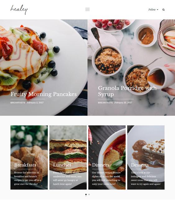 food blog recipe wordpress themes